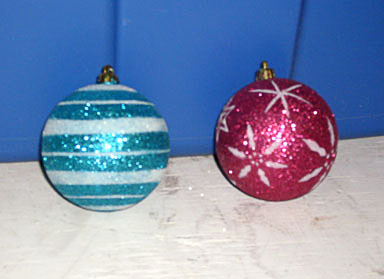 christmas ornaments glitter balls
