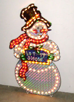 snowman lighted with stand christmas outdoor decor