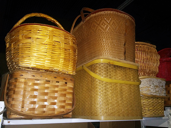 picnic baskets medieval village market