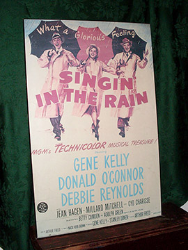 singing the rain movie poster vintage art wall painting