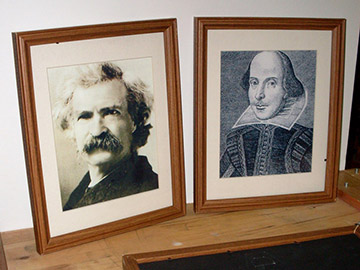 William Shakespeare Mark Twain Framed Picture Portait Photo