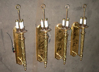 gold torch sconces lighting